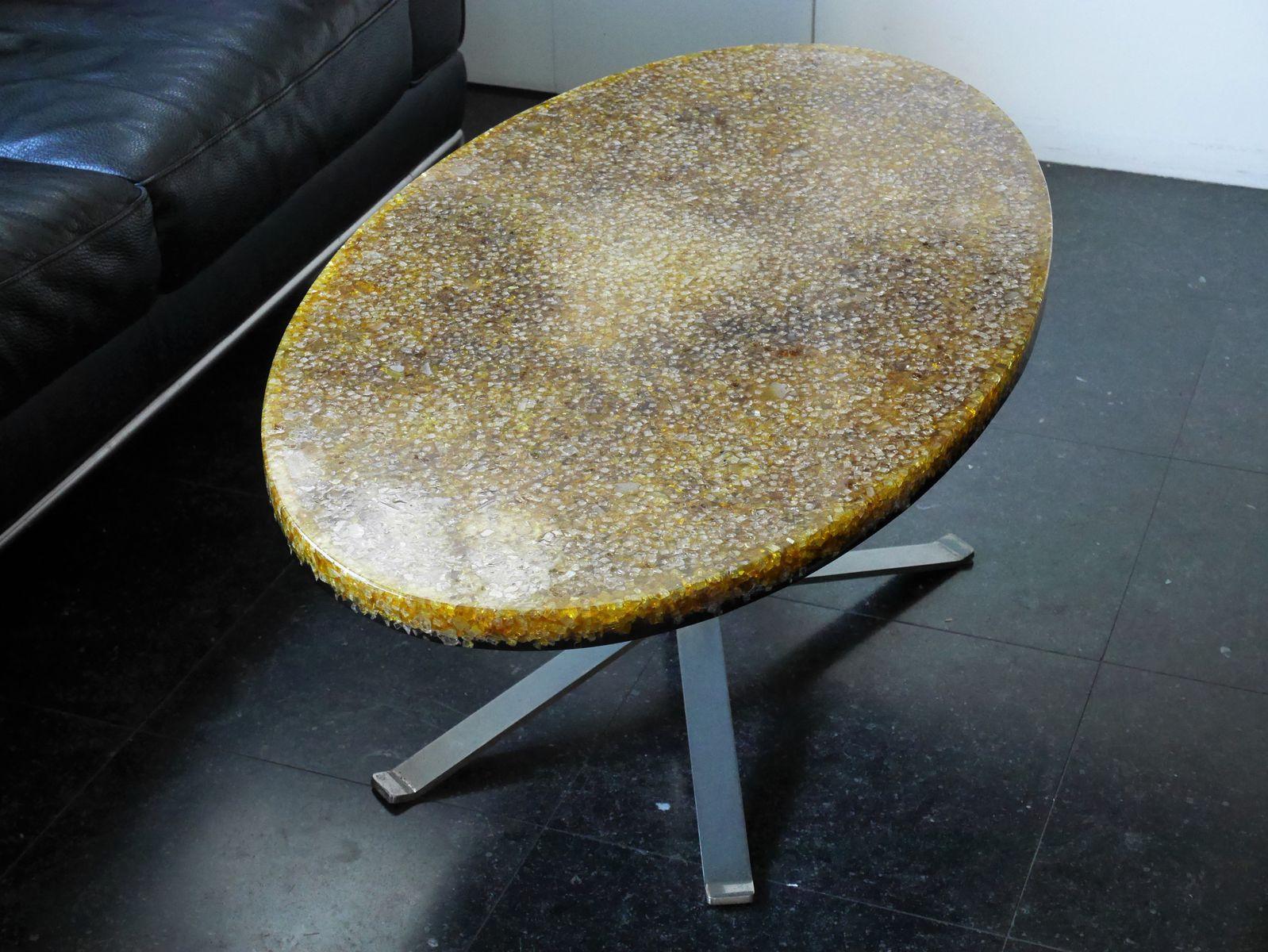 ovaler tisch von pierre giraudon 1970er bei pamono kaufen. Black Bedroom Furniture Sets. Home Design Ideas