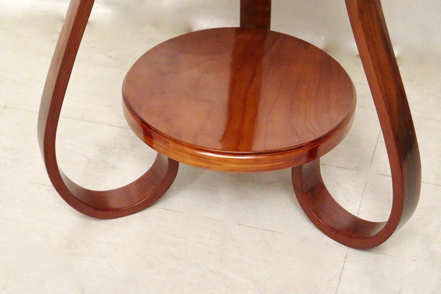 Italian Round Cherrywood Side Table 1930s 6 1 522 00 Price Per Piece