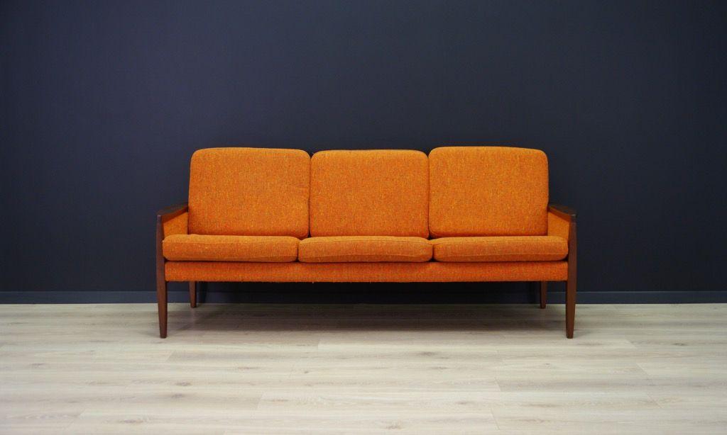 vintage sofa mit furnier aus mahagoni bei pamono kaufen. Black Bedroom Furniture Sets. Home Design Ideas