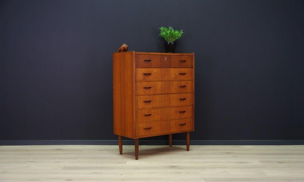 d nische vintage kommode mit furnier aus teakholz bei pamono kaufen. Black Bedroom Furniture Sets. Home Design Ideas