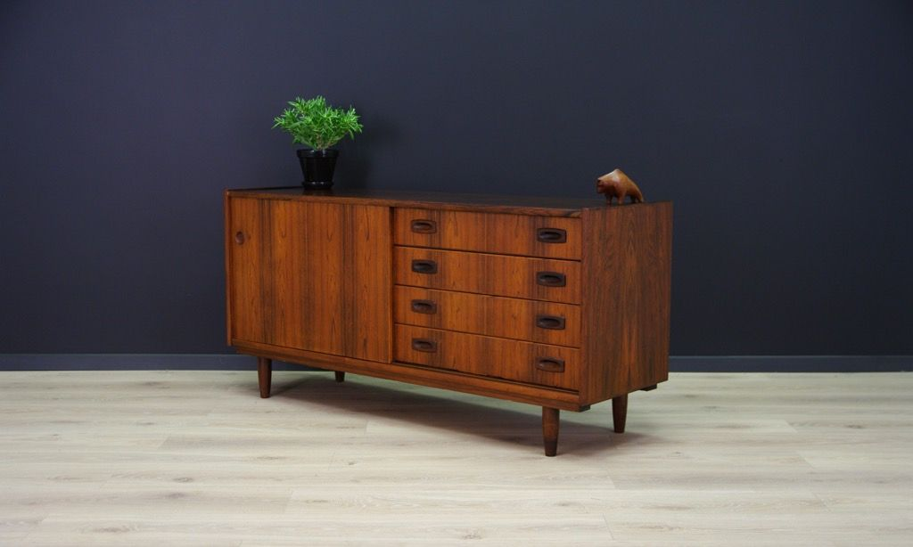 d nisches vintage sideboard mit furnier aus palisander bei. Black Bedroom Furniture Sets. Home Design Ideas