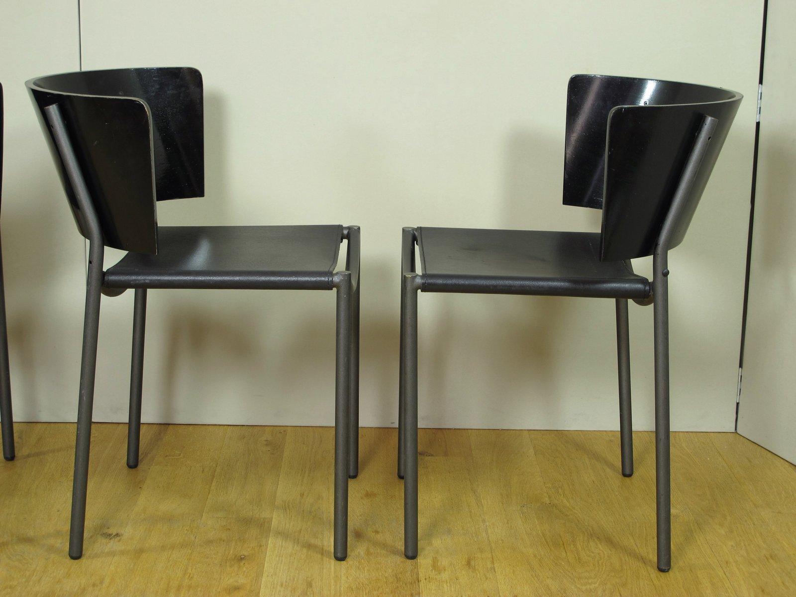 chaises hunter lilla par philippe starck pour xo 1990s set de 4 en vente sur pamono. Black Bedroom Furniture Sets. Home Design Ideas