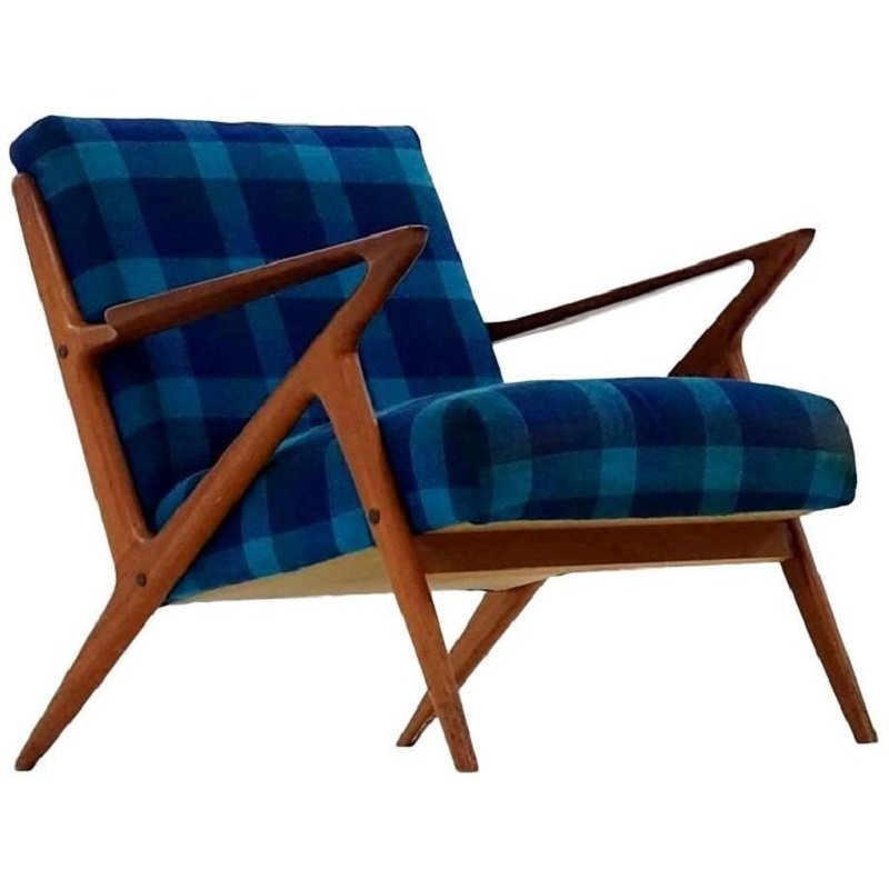 Mid Century Z Lounge Chair By Poul Jensen For Selig