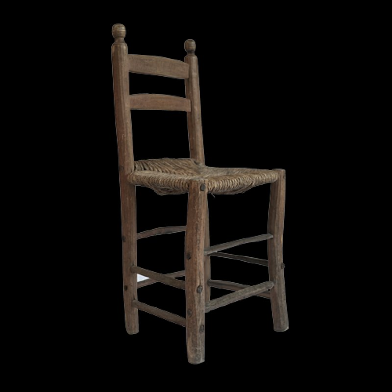 Antique Ladder Back Chairs, 1850s, Set of 4 - Antique Ladder Back Chairs, 1850s, Set Of 4 For Sale At Pamono