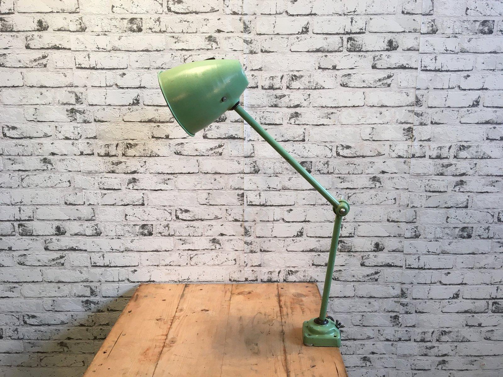 Mid-Century Tischlampe in Grün, 1960er