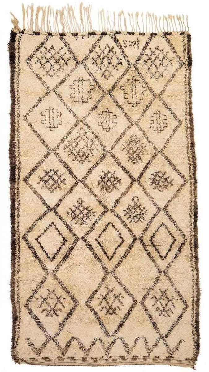marokkanischer vintage berber teppich von beni ouarain. Black Bedroom Furniture Sets. Home Design Ideas