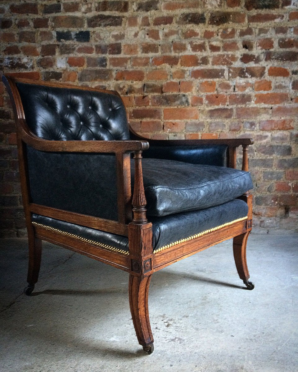 leather library chairs for sale antique victorian leather amp oak library chair 1840s for 16646 | antique victorian leather oak library chair 1840s 1