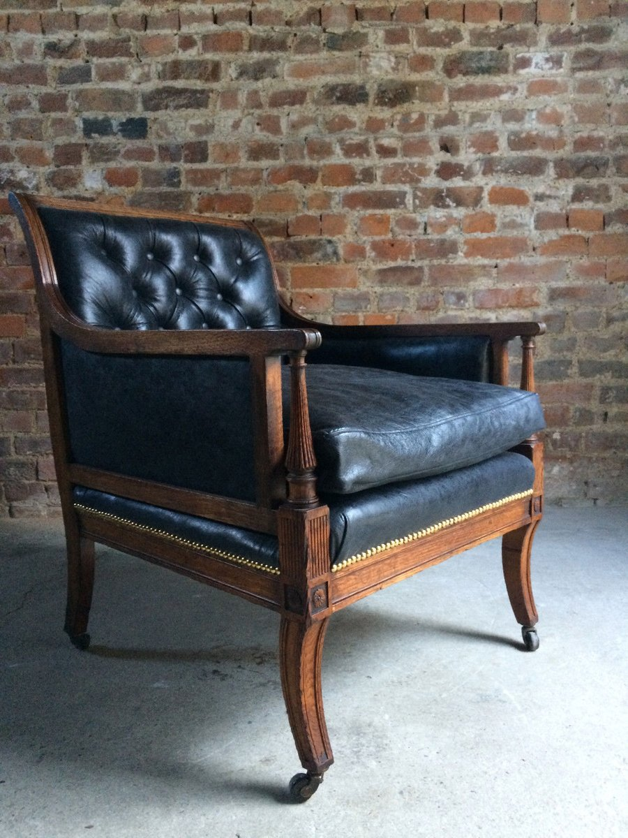 leather library chairs for sale antique victorian leather amp oak library chair 1840s for 16646 | antique victorian leather oak library chair 1840s 11