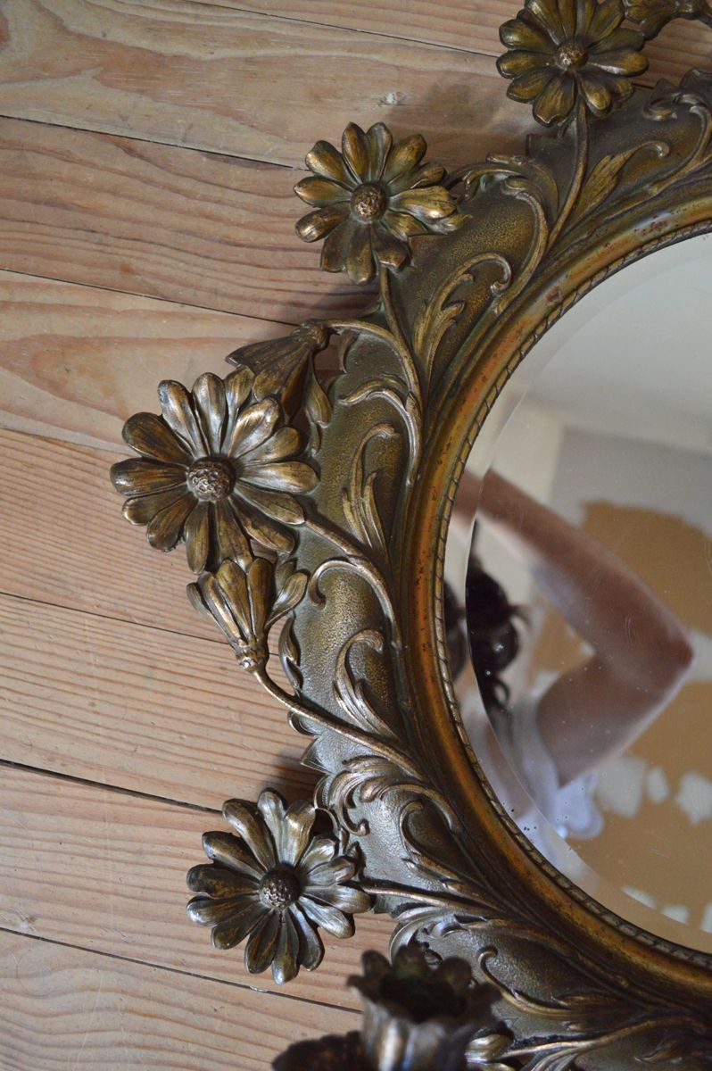 Specchio grande antico con portacandele in vendita su pamono - Specchio grande ...