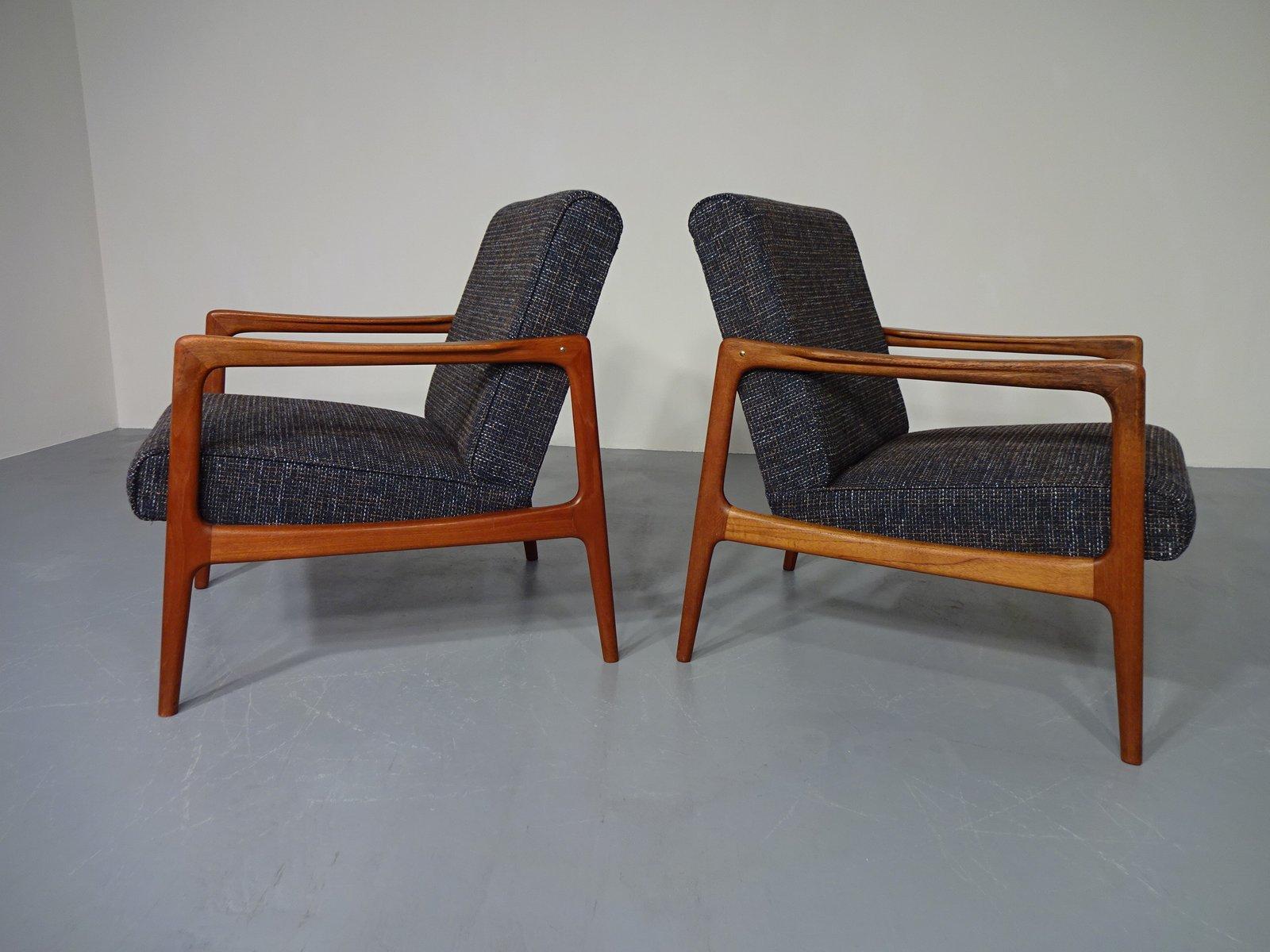 Dänischer Sessel aus Teakholz, 1960er, 2er Set