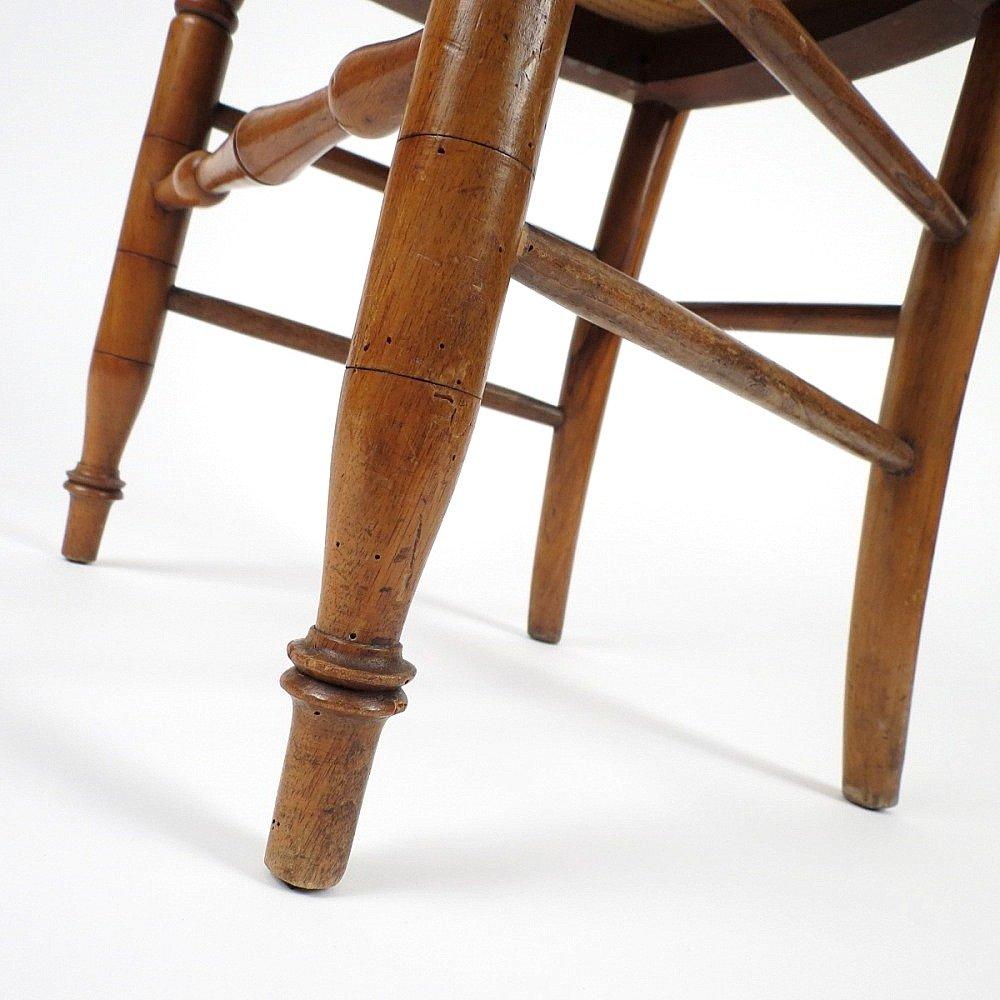 Sillas de comedor francesas de madera a os 50 juego de 6 for Precio de juego de comedor de madera de 6 sillas