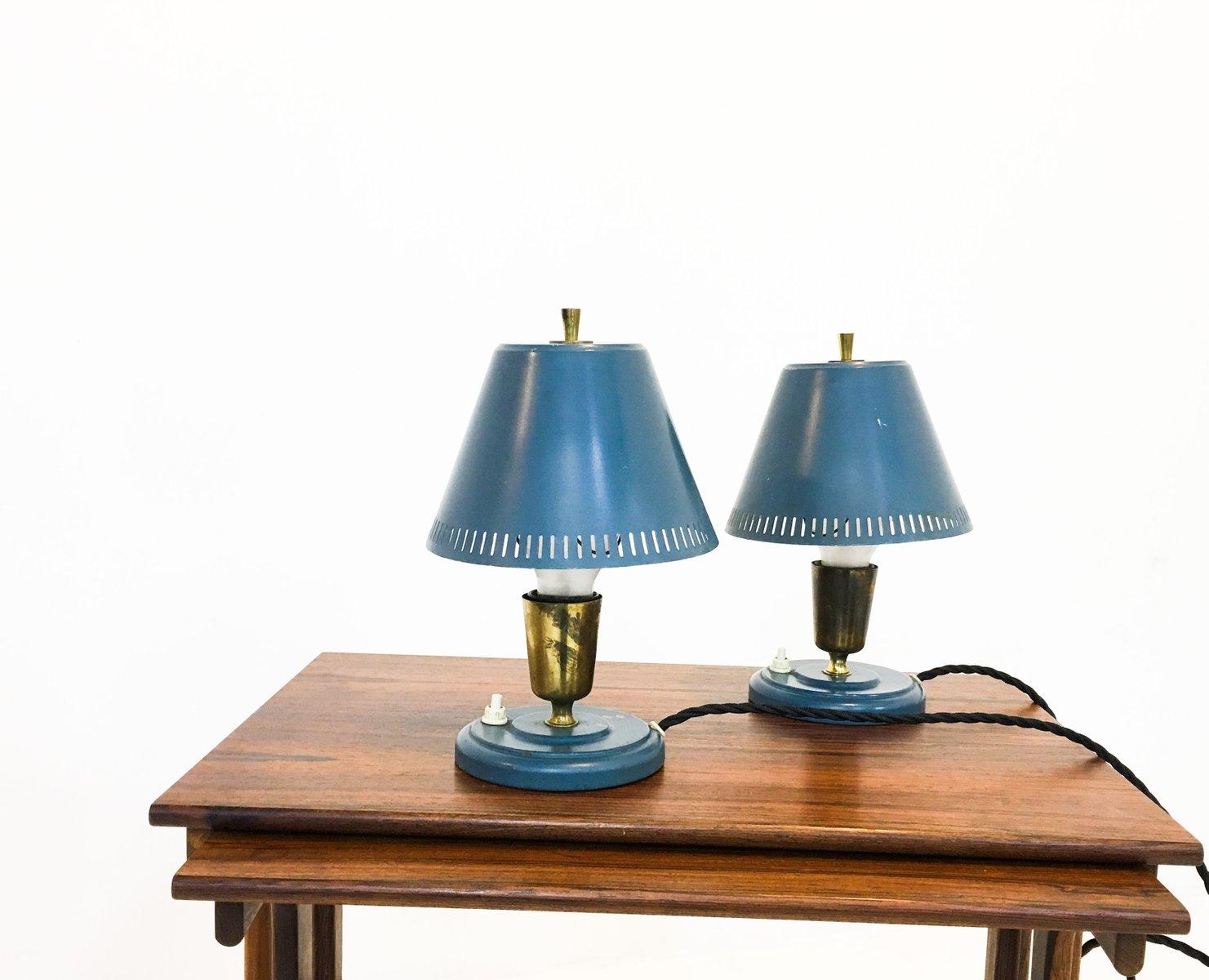 Schwedische Tischlampen von Falkenbergs Belsyning, 1950er, 2er Set
