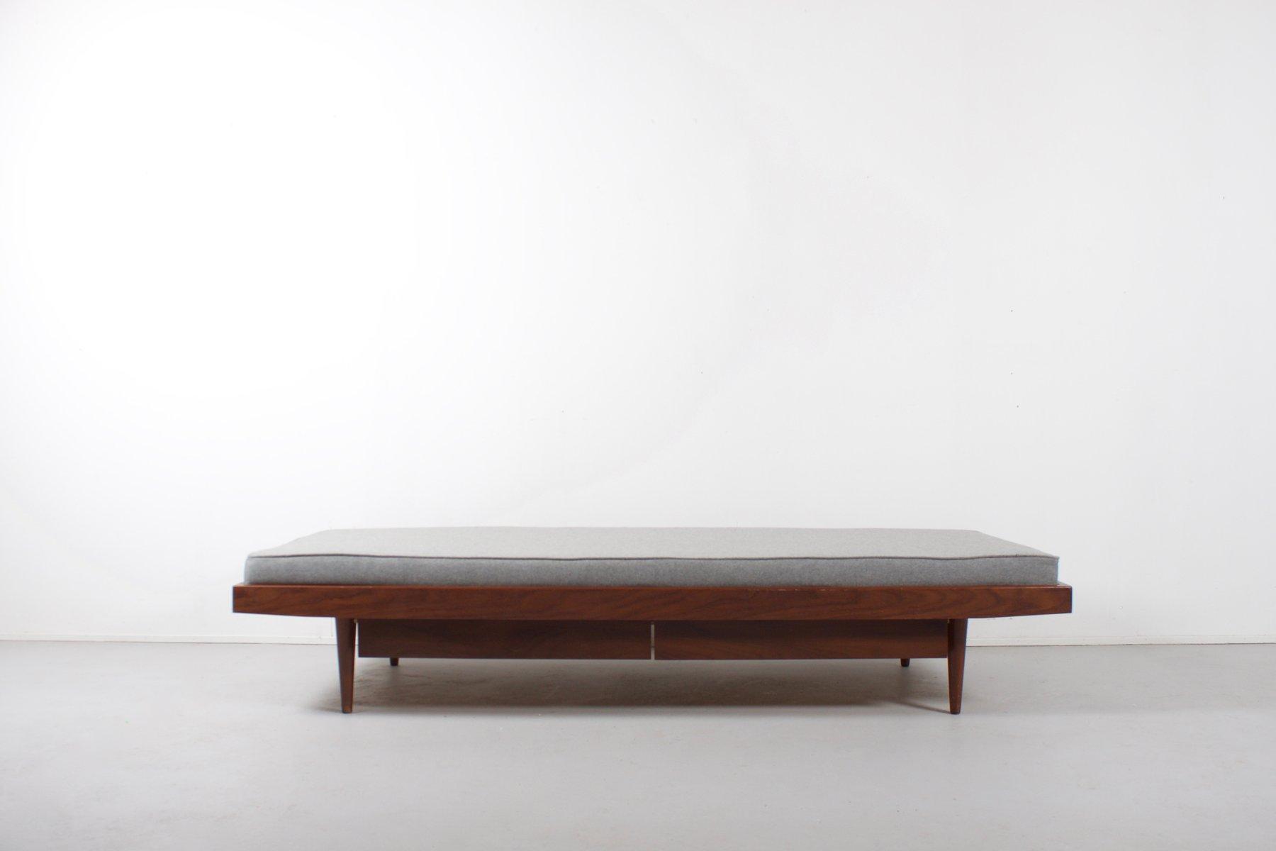 Skandinavisches Tagesbett mit Schubladen aus Teakholz, 1960er