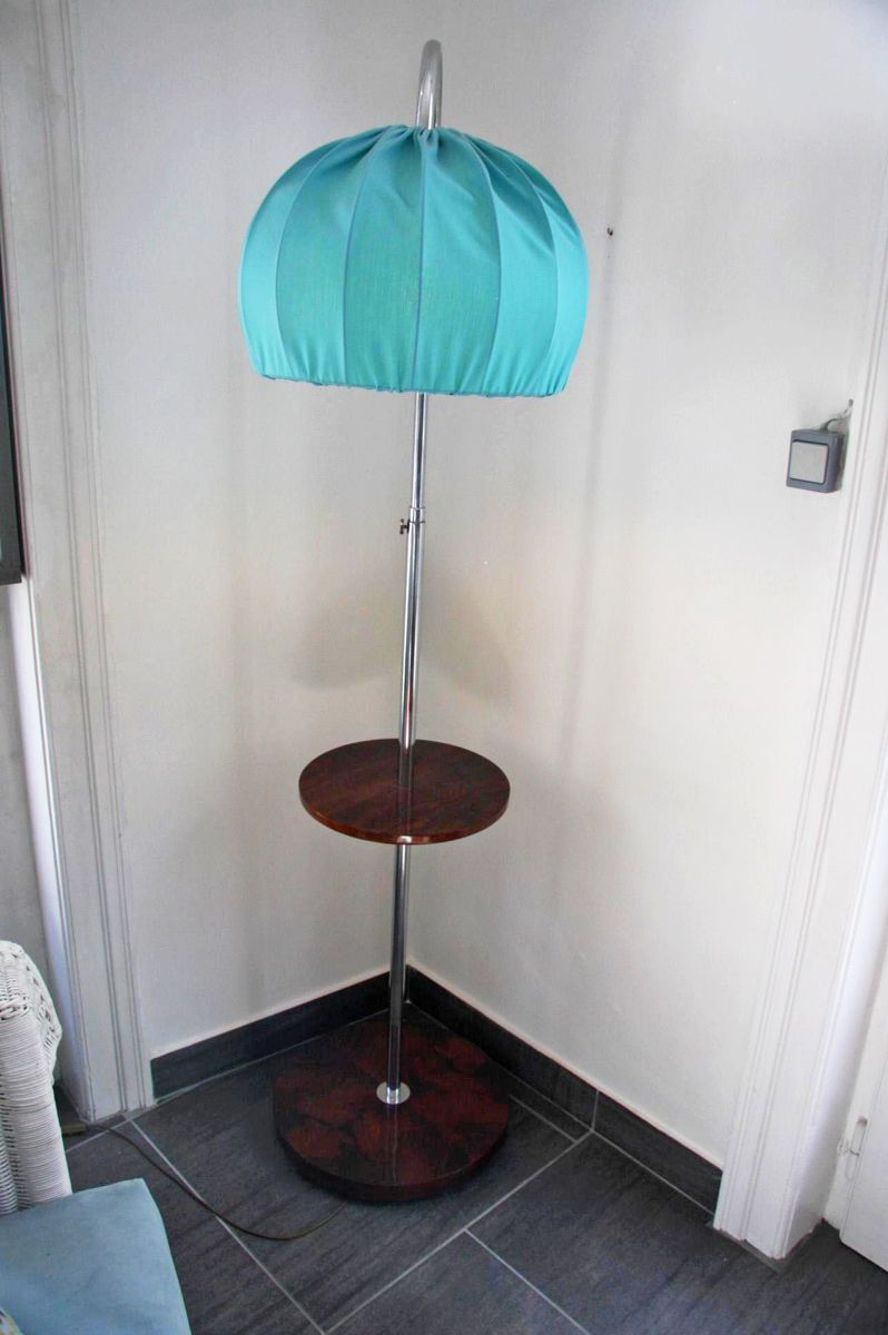 Bauhaus floor lamp with shelf for sale at pamono bauhaus floor lamp with shelf 11 price 205000 regular price 235800 aloadofball