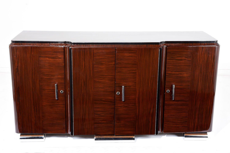 franz sische buffet aus makassarholz im art d co stil bei pamono kaufen. Black Bedroom Furniture Sets. Home Design Ideas