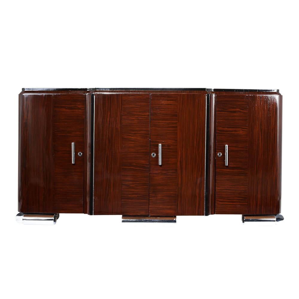 French Art Deco Style Macar Wood Buffet