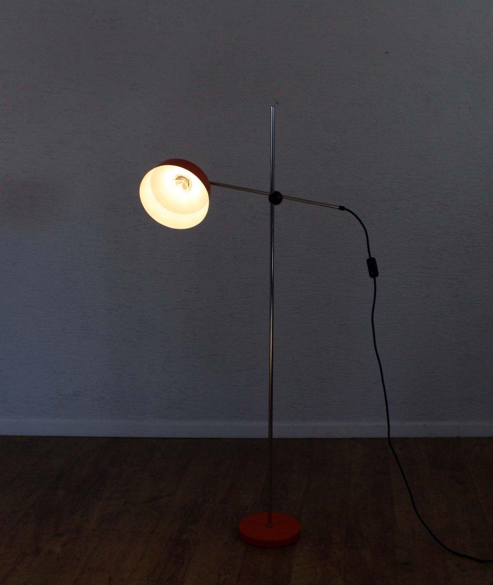 orangefarbene vintage stehlampe von gura leuchten bei pamono kaufen. Black Bedroom Furniture Sets. Home Design Ideas