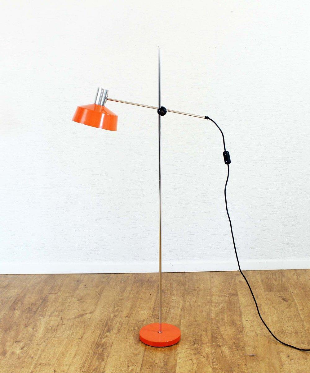 Orangefarbene Vintage Stehlampe von Gura Leuchten
