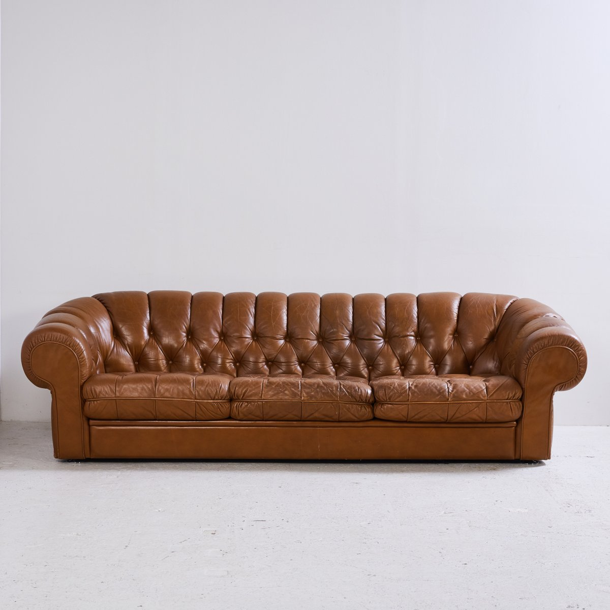 Chesterfield Leather Sofa Set 1970s For Sale At Pamono
