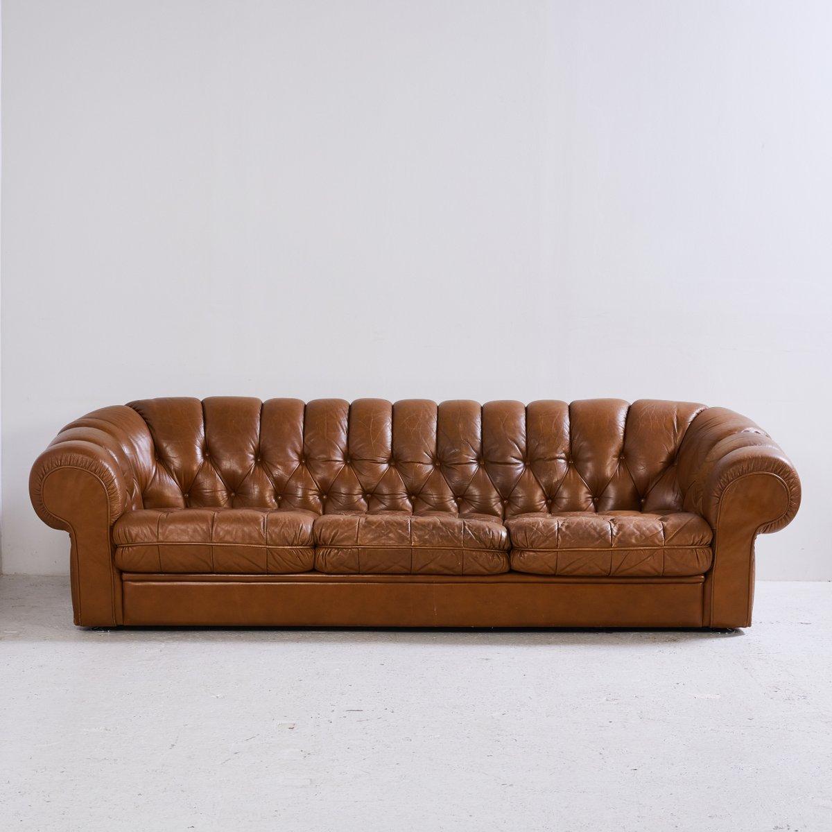 chesterfield sofa set aus leder 1970er bei pamono kaufen. Black Bedroom Furniture Sets. Home Design Ideas