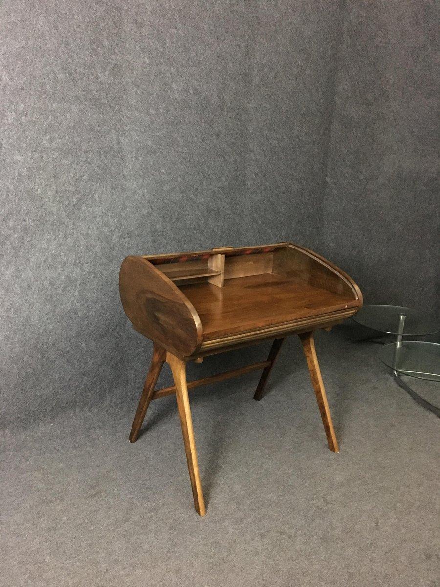 mid century louvre schreibtisch bei pamono kaufen. Black Bedroom Furniture Sets. Home Design Ideas