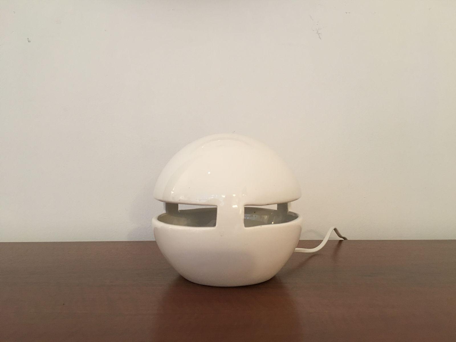 Kleine Italienische Vintage Keramik Lampe