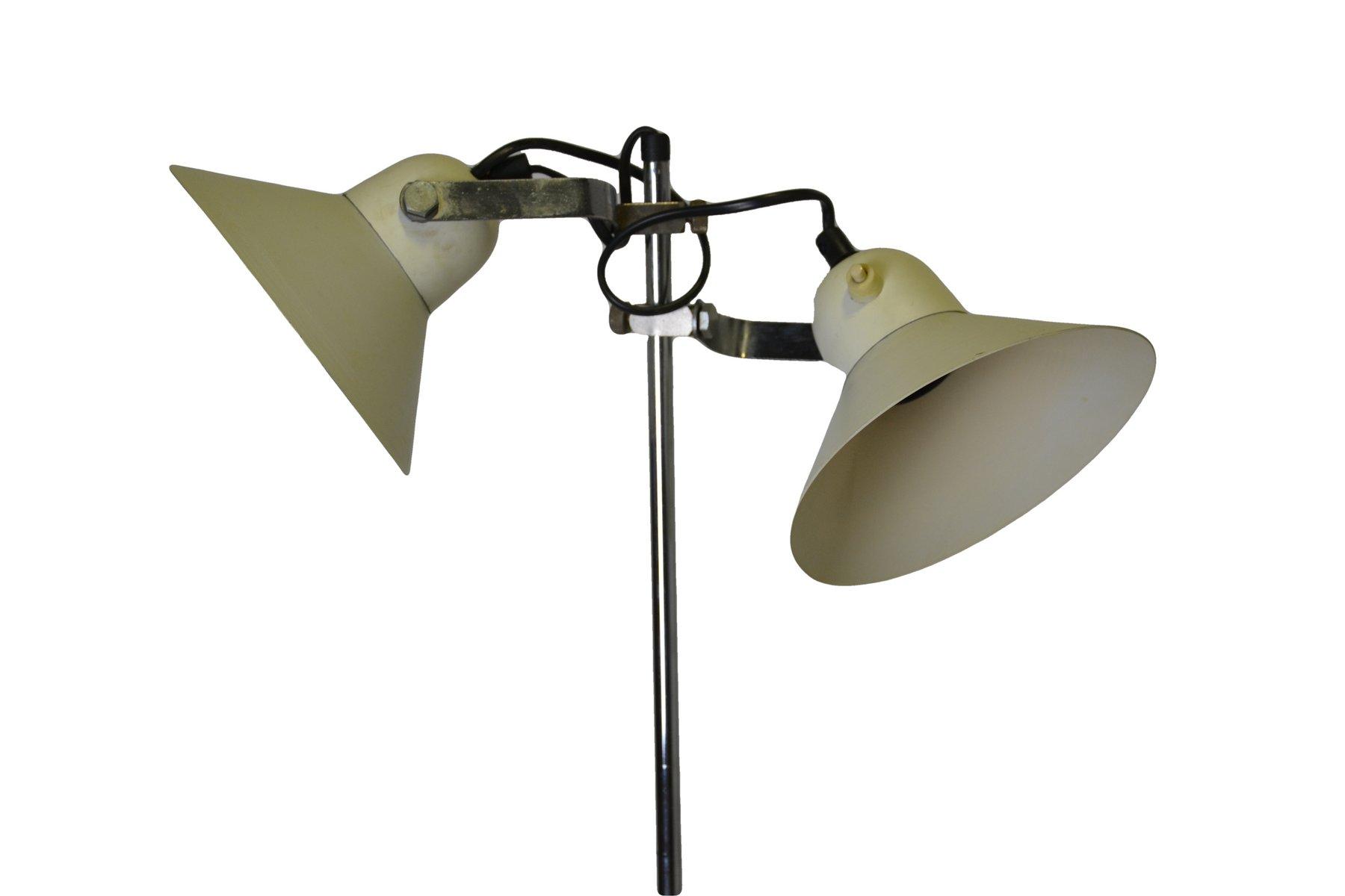 stehlampe mit zwei schirmen 1960er bei pamono kaufen. Black Bedroom Furniture Sets. Home Design Ideas