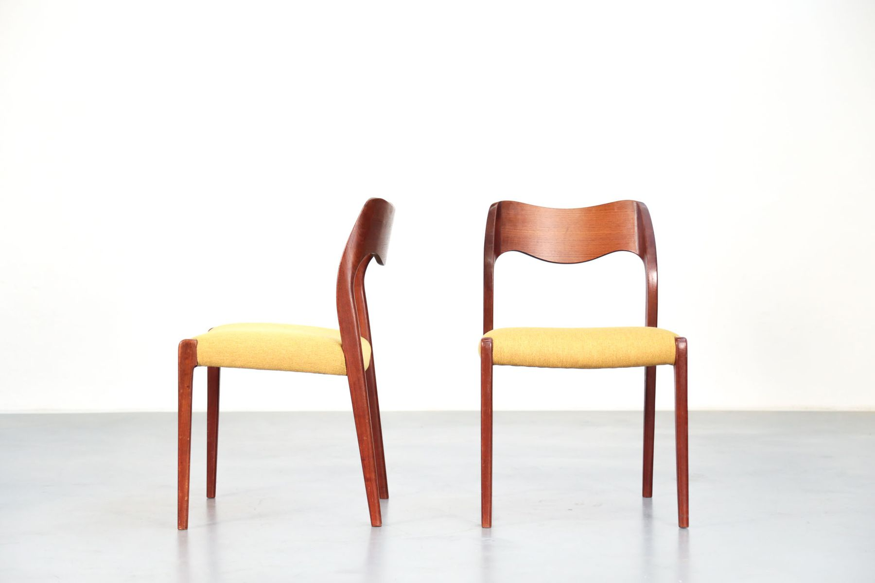 Scandinavian Chairs By Niels Otto Møller For J.L. Møllers, Set Of 5