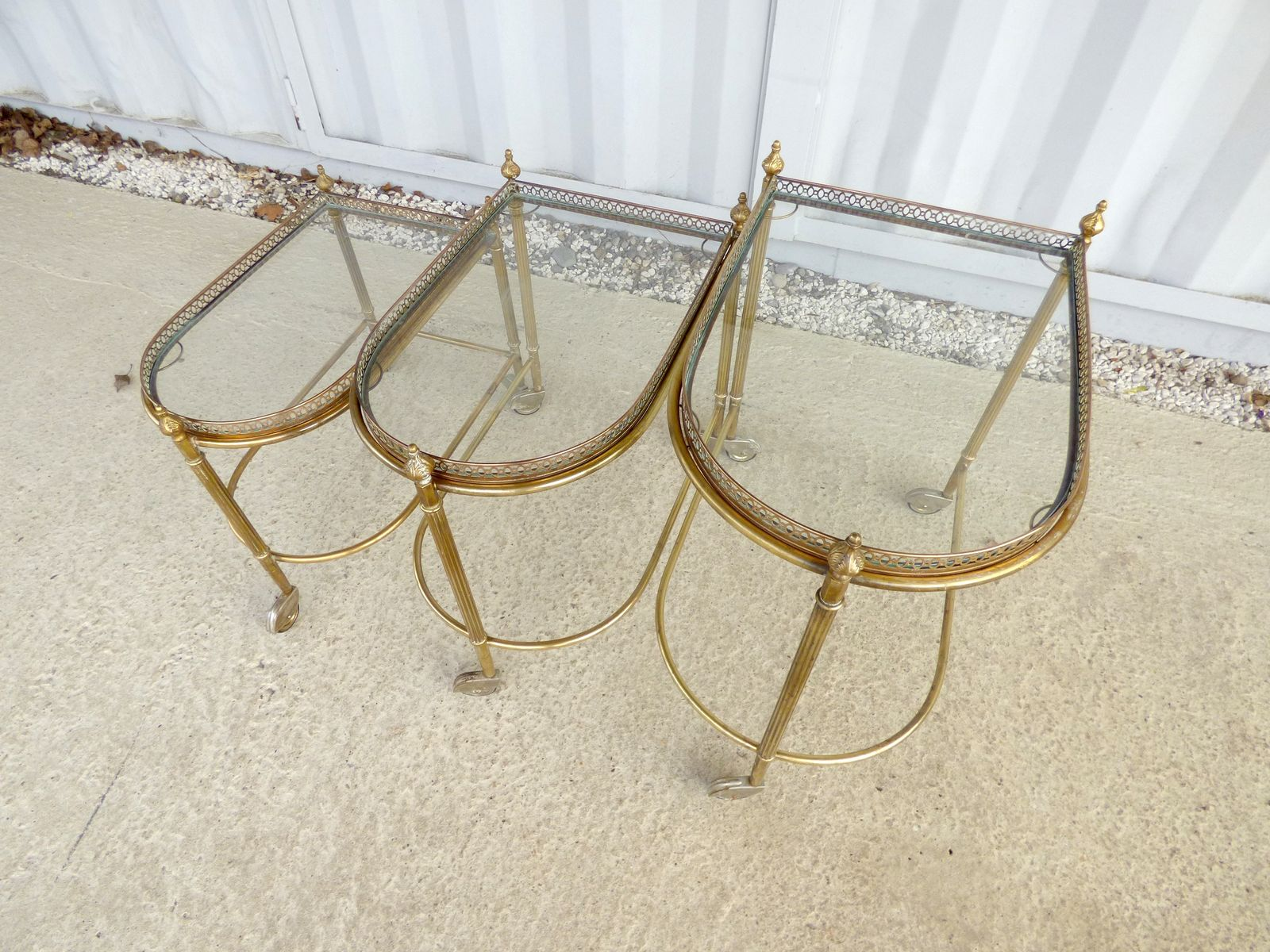 serving trolley from maison bagues 1950s for sale at pamono. Black Bedroom Furniture Sets. Home Design Ideas