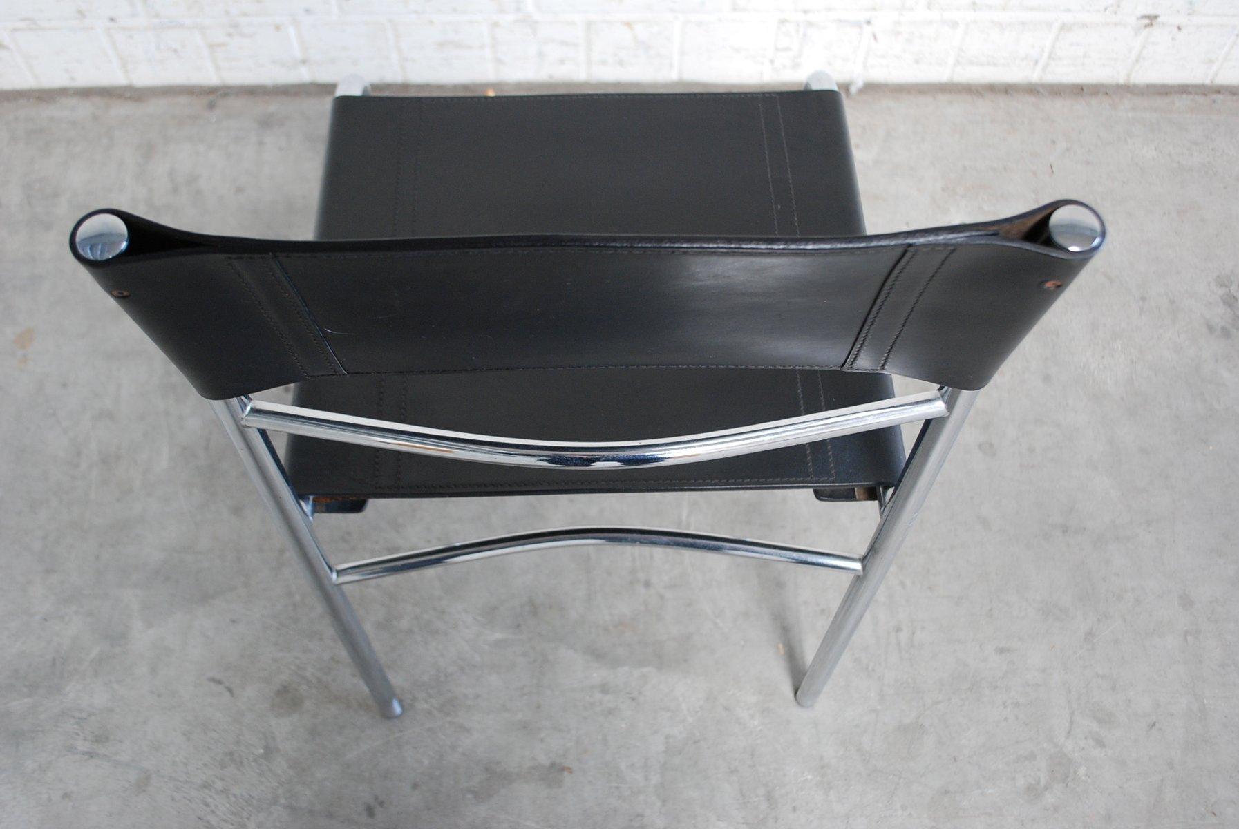 mid century esszimmerst hle aus leder von zanotta 4er set bei pamono kaufen. Black Bedroom Furniture Sets. Home Design Ideas