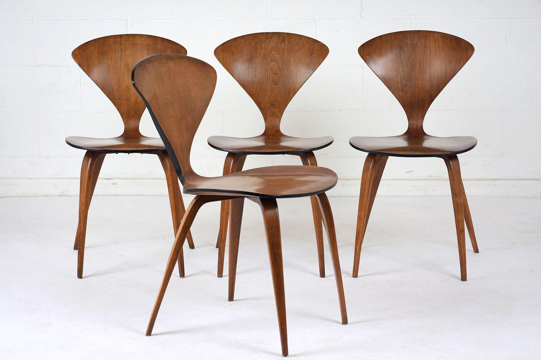 st hle von bernardo f r plycraft 1950er 4er set bei pamono kaufen. Black Bedroom Furniture Sets. Home Design Ideas
