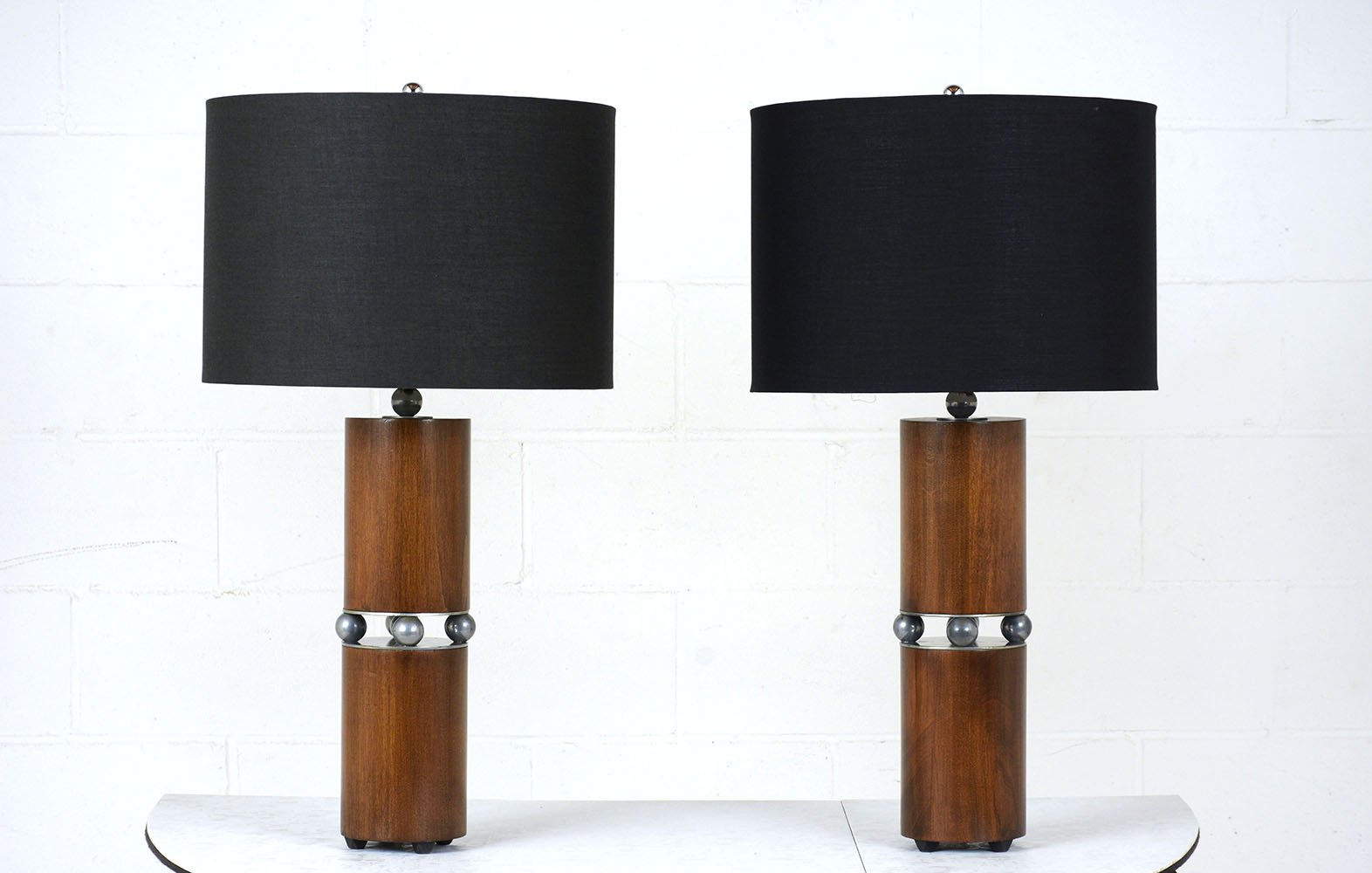 Mid century modern table lamps set of 2