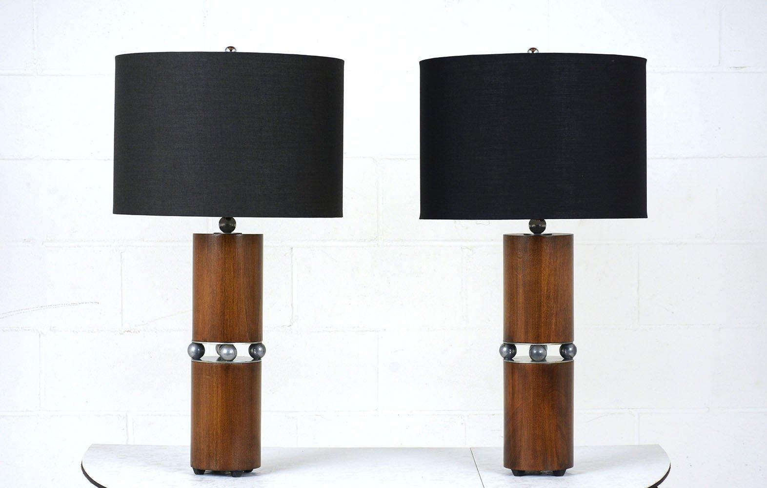 Mid-Century Modern Tischlampen, 2er Set