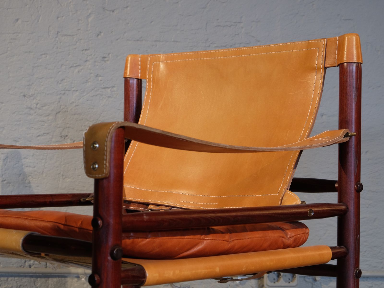 Ordinaire Leather Safari Chair Model Sirocco By Arne Norell, 1960s 7. £2,376.00