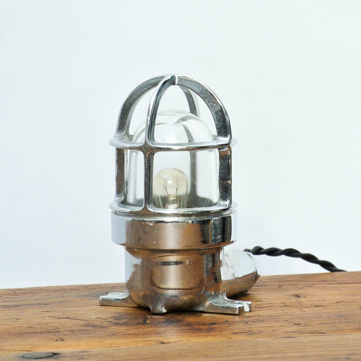 Industrielle Vintage Chrom Tischlampe