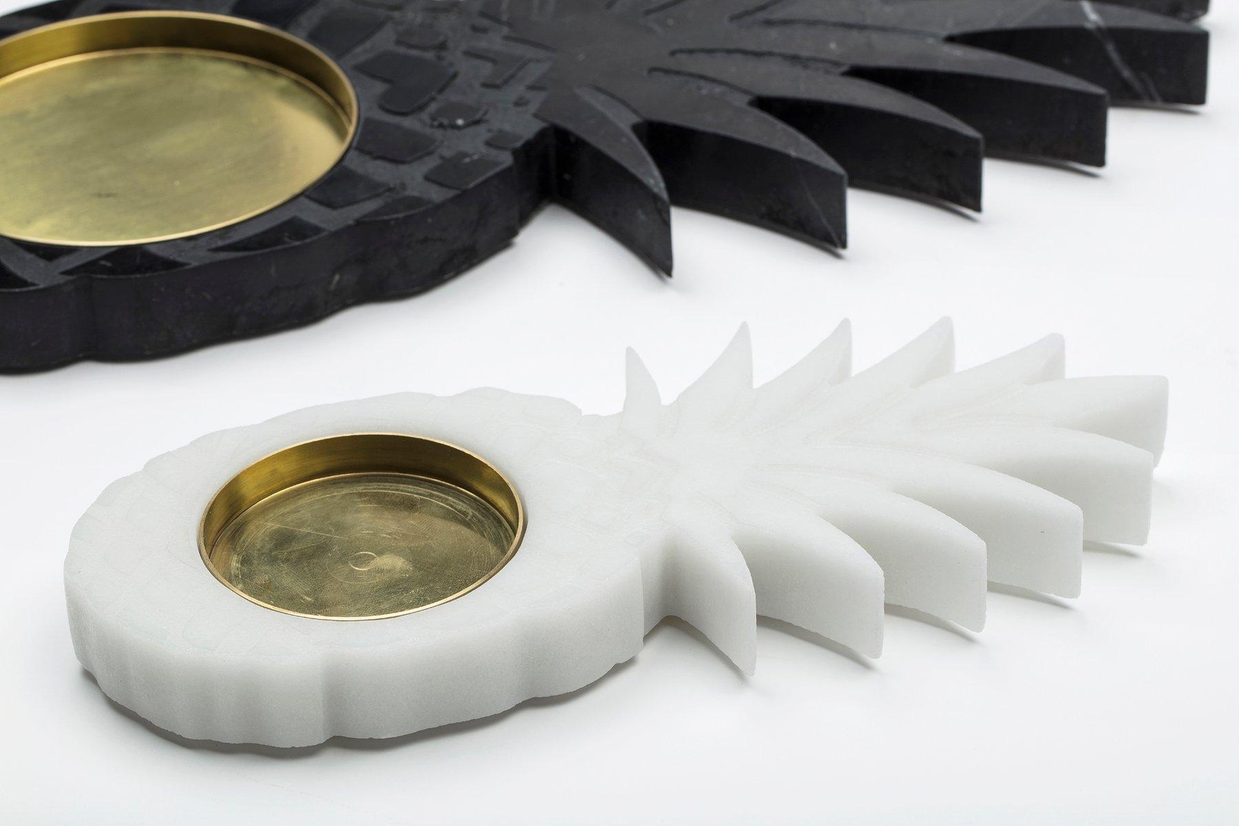 kleiner wei er ananas carrara marmor aschenbecher von carlotta turini f r fiammettav home. Black Bedroom Furniture Sets. Home Design Ideas