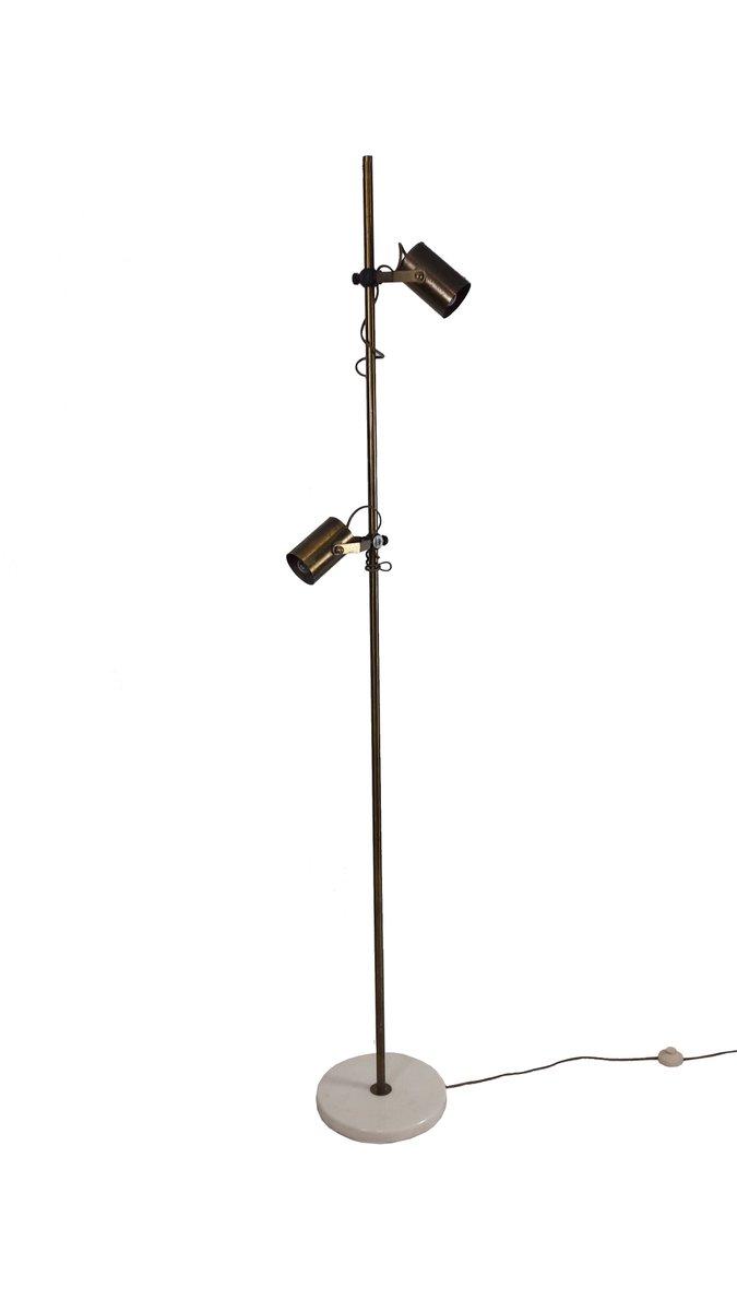 Mid-Century Stehlampe aus Messing, 1950er