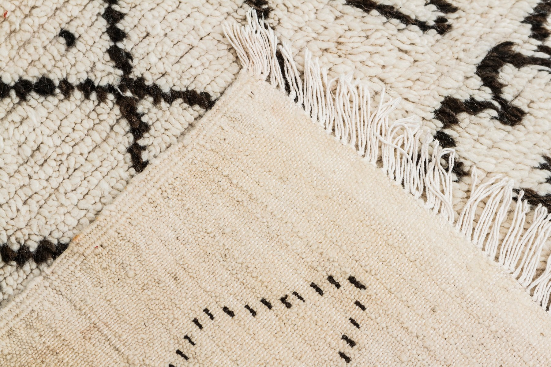 Vintage Moroccan Berber Carpet From Azilal 1980s For Sale