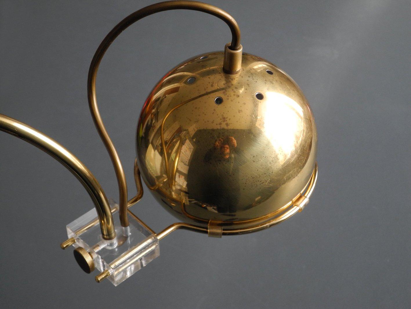 lampe pince enti rement en laiton avec abat jour flexible italie 1960s en vente sur pamono. Black Bedroom Furniture Sets. Home Design Ideas