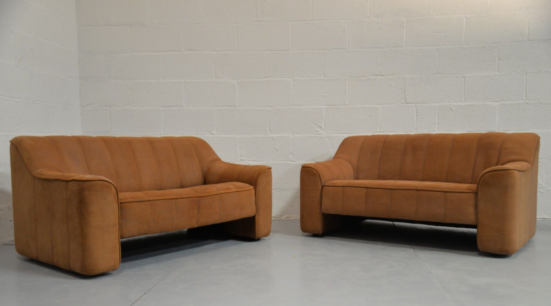 vintage ds 44 2 sitzer sofas von de sede 1970er 2er set bei pamono kaufen. Black Bedroom Furniture Sets. Home Design Ideas