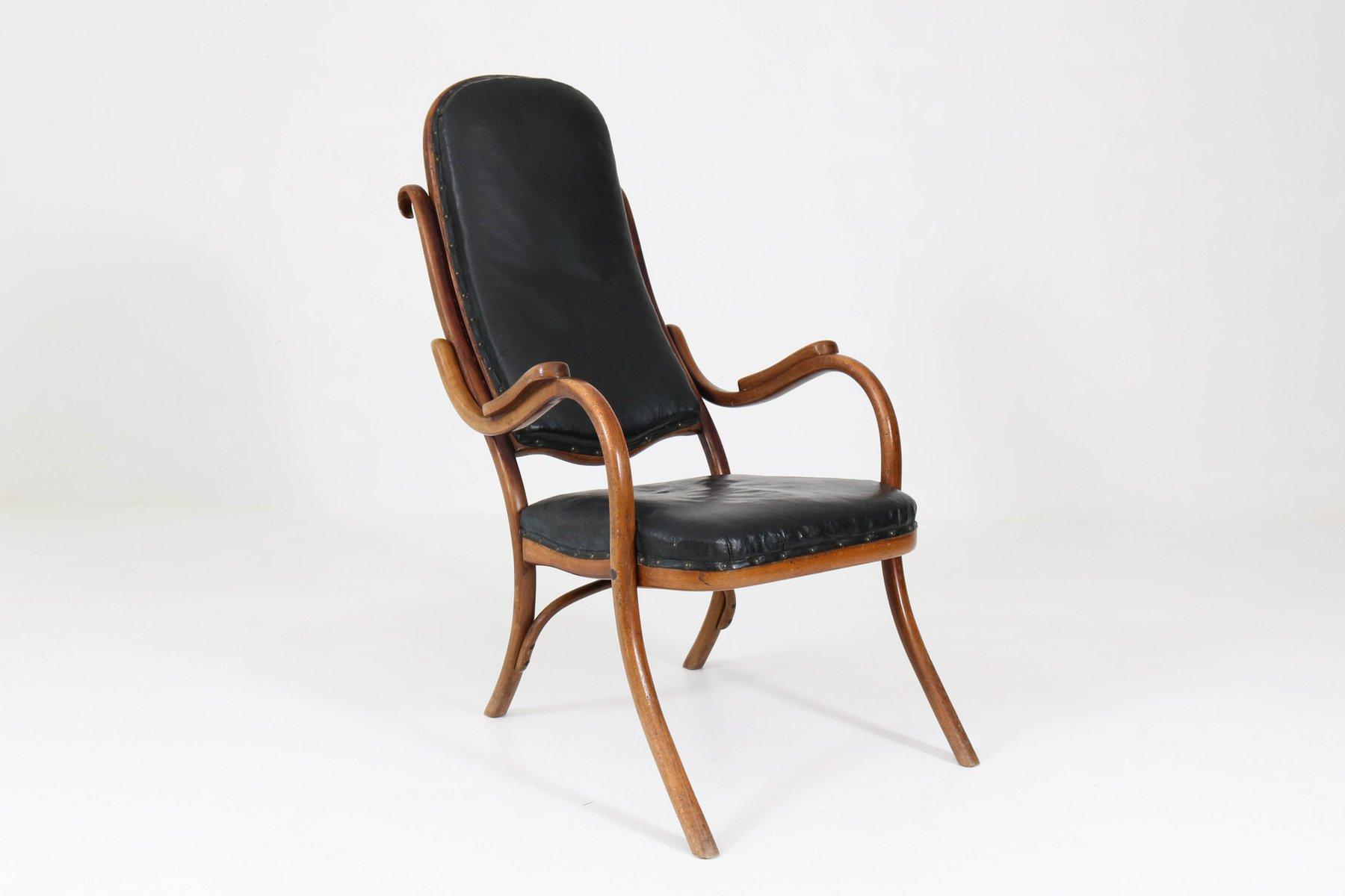 Jugendstil Buche & Bugholz Sessel von Thonet, 1890er