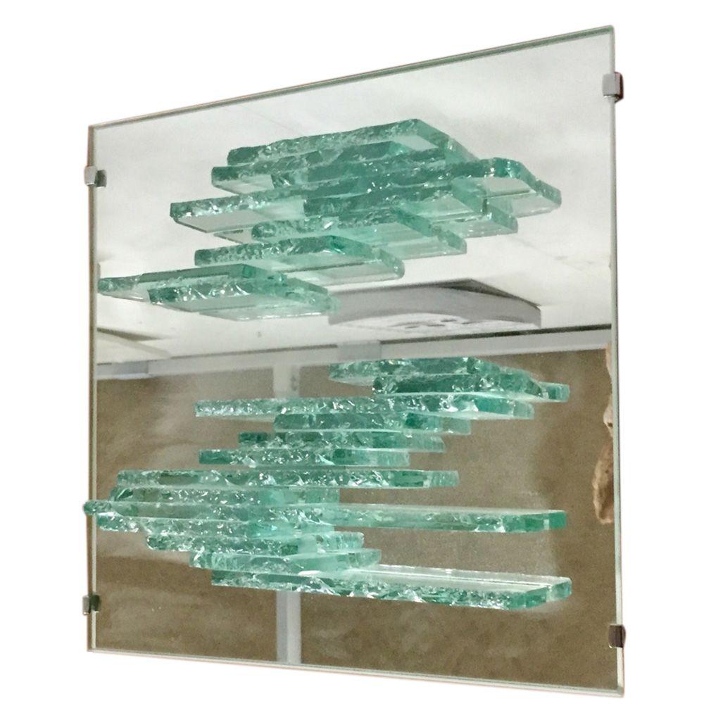 Vintage Spiegelglas Wandlampe von Willem Van Oyen für Raak, 1980er
