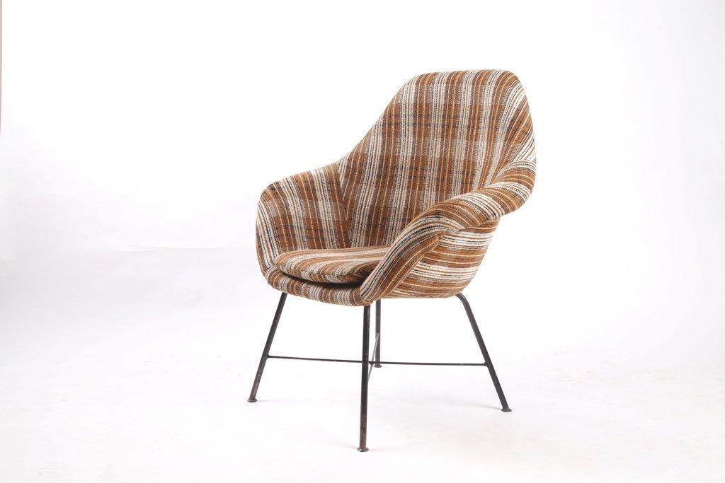 Mid Century Czech Fiberglass Chair, 1960s