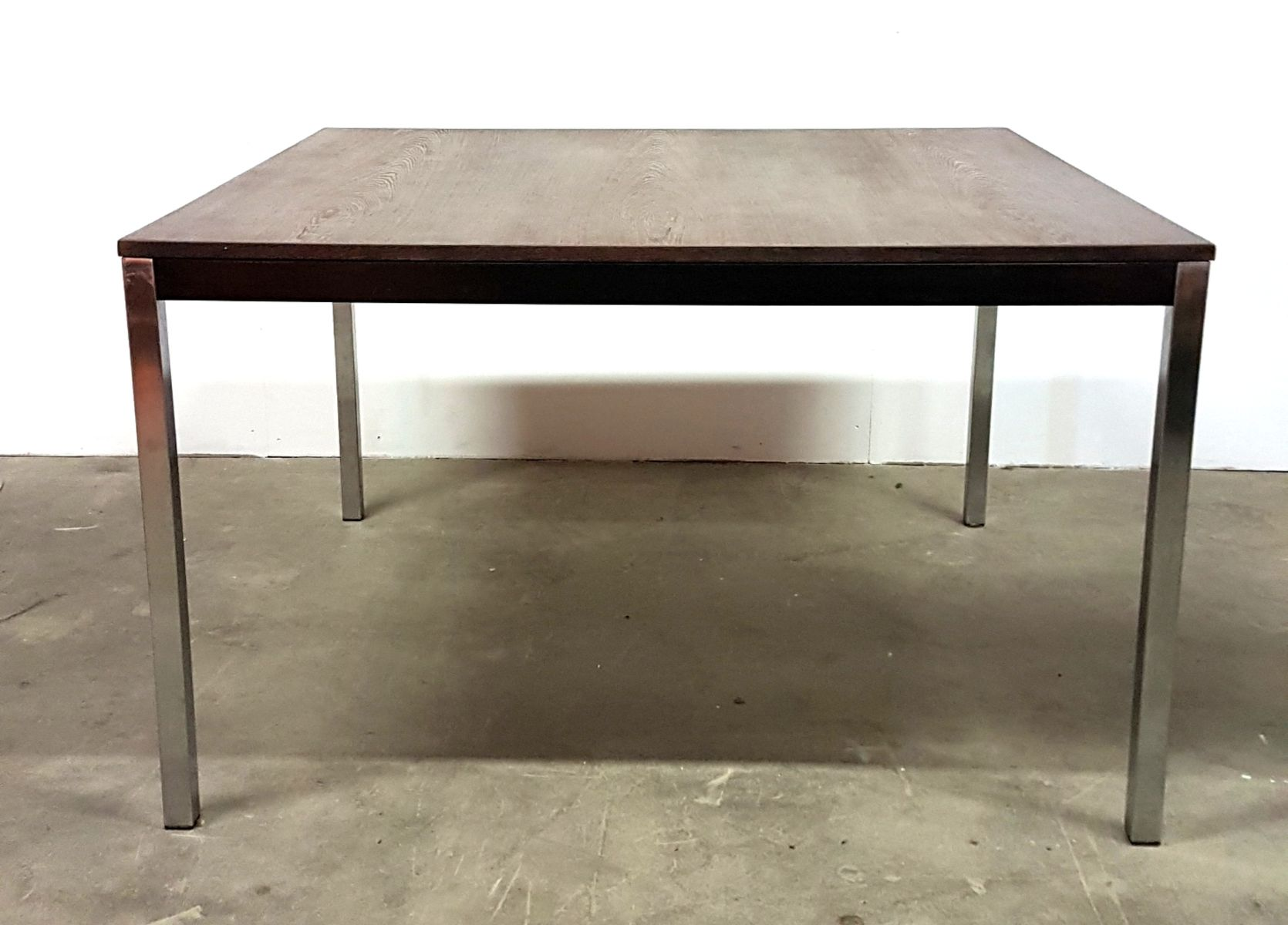 MidCentury Square Wenge Dining Table By Martin Visser For T - Mid century square dining table