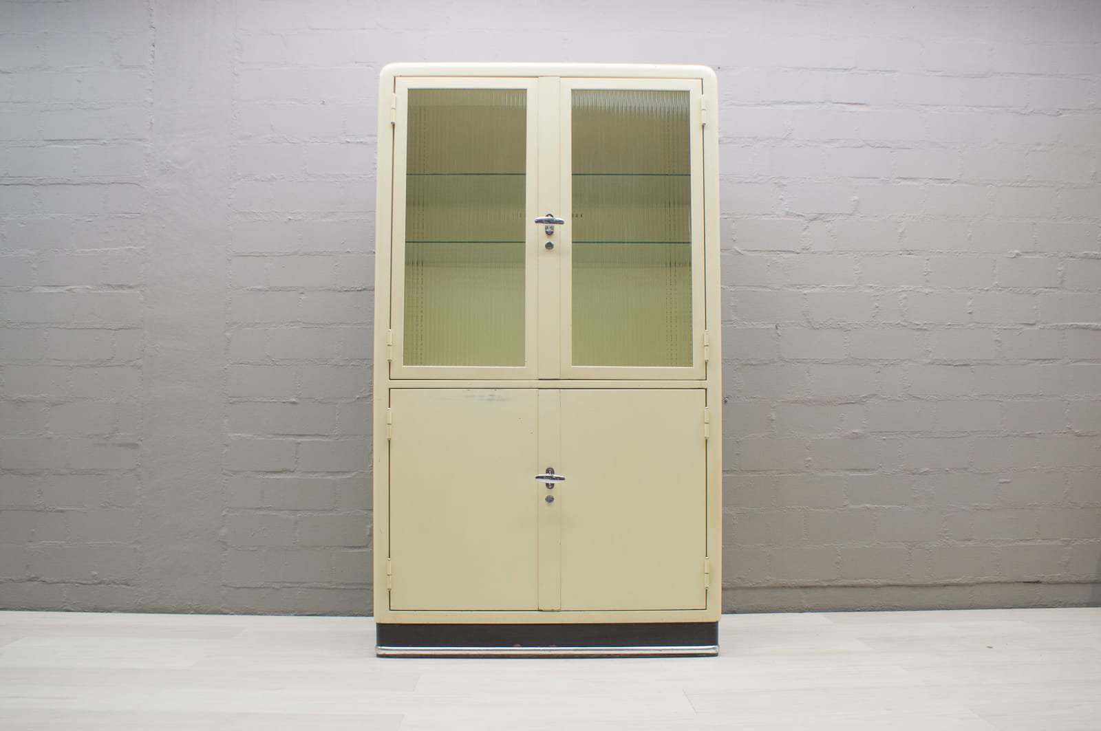 German Metal Medical Cabinet From Baisch, 1950s