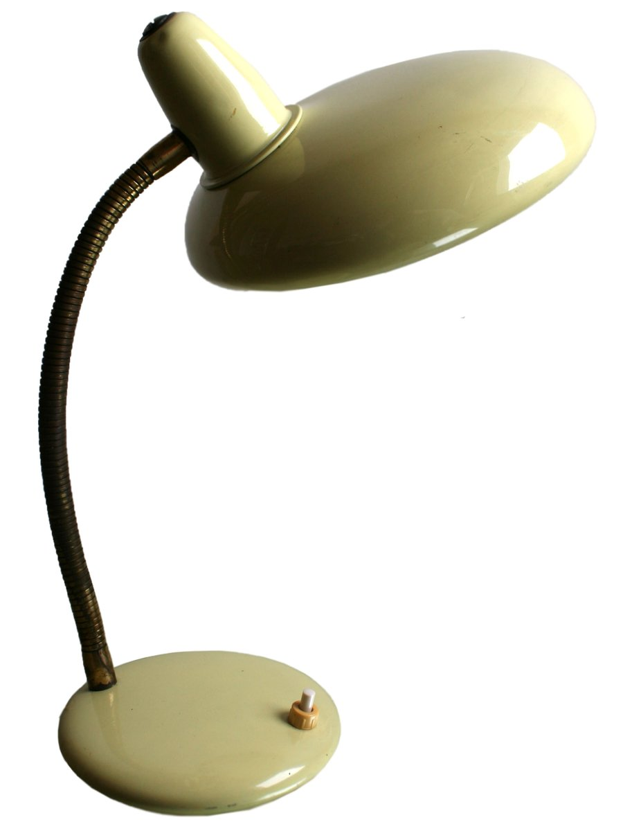 Französische Mid-Century Lampe aus Metall, 1950er