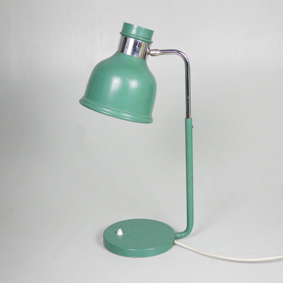 Industrielle Vintage Werkstatt Tischlampe in Grün, 1970er