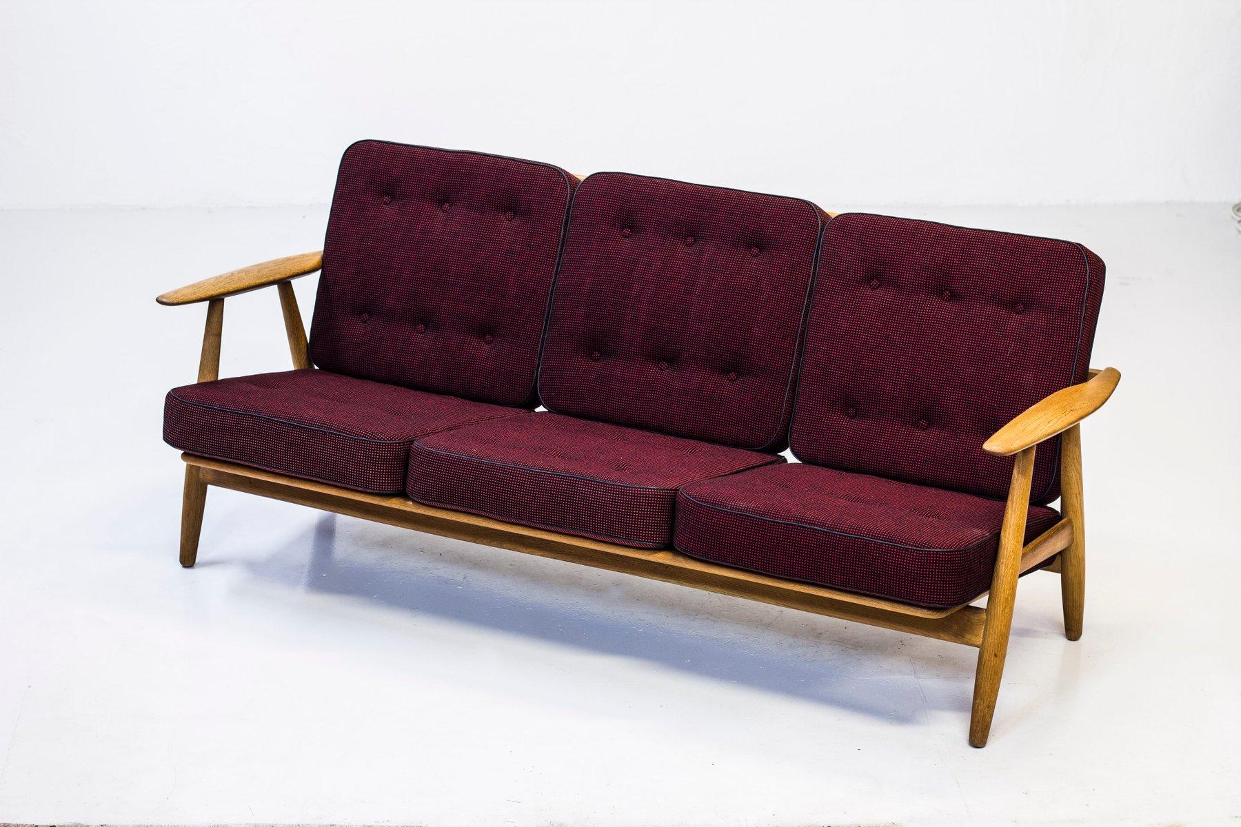 Ge 240 3 Cigar Sofa By Hans J Wegner For Getama 1950s