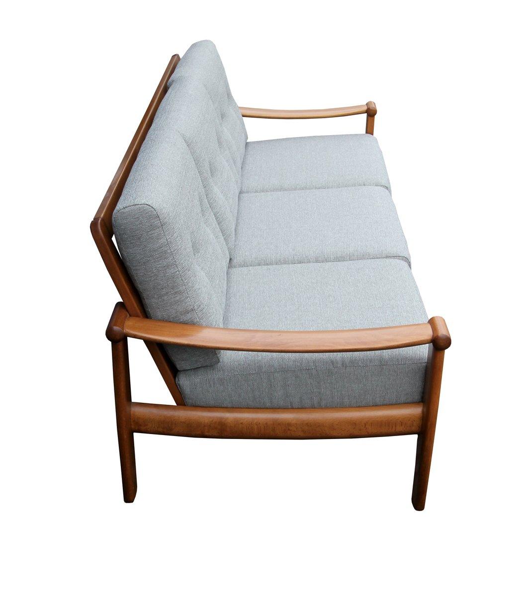 hellgraues 3 sitzer sofa 1960er bei pamono kaufen. Black Bedroom Furniture Sets. Home Design Ideas