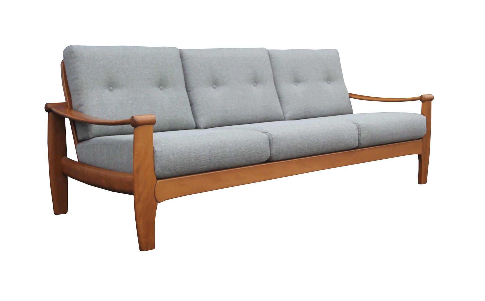 canap 3 places gris clair 1960s en vente sur pamono. Black Bedroom Furniture Sets. Home Design Ideas